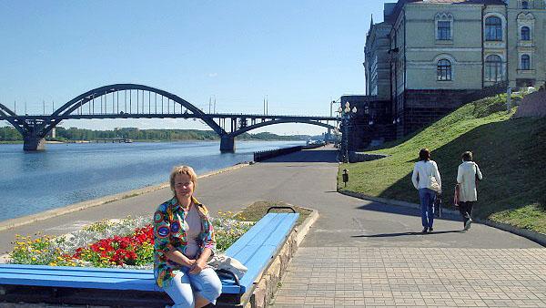 Набережная города Рыбинск