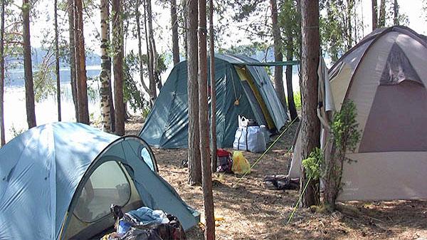 Место под палатки