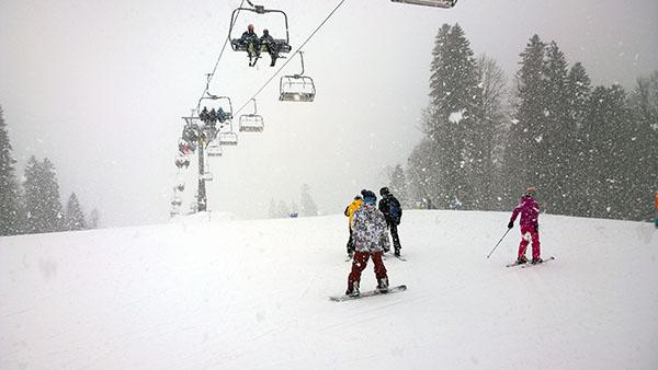 Снегопад на Газпроме