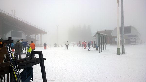 Туман потихоньку отступает