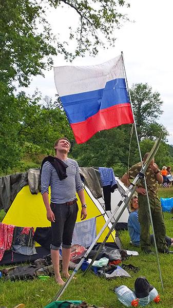 Дмитрий изучает историю наших походов