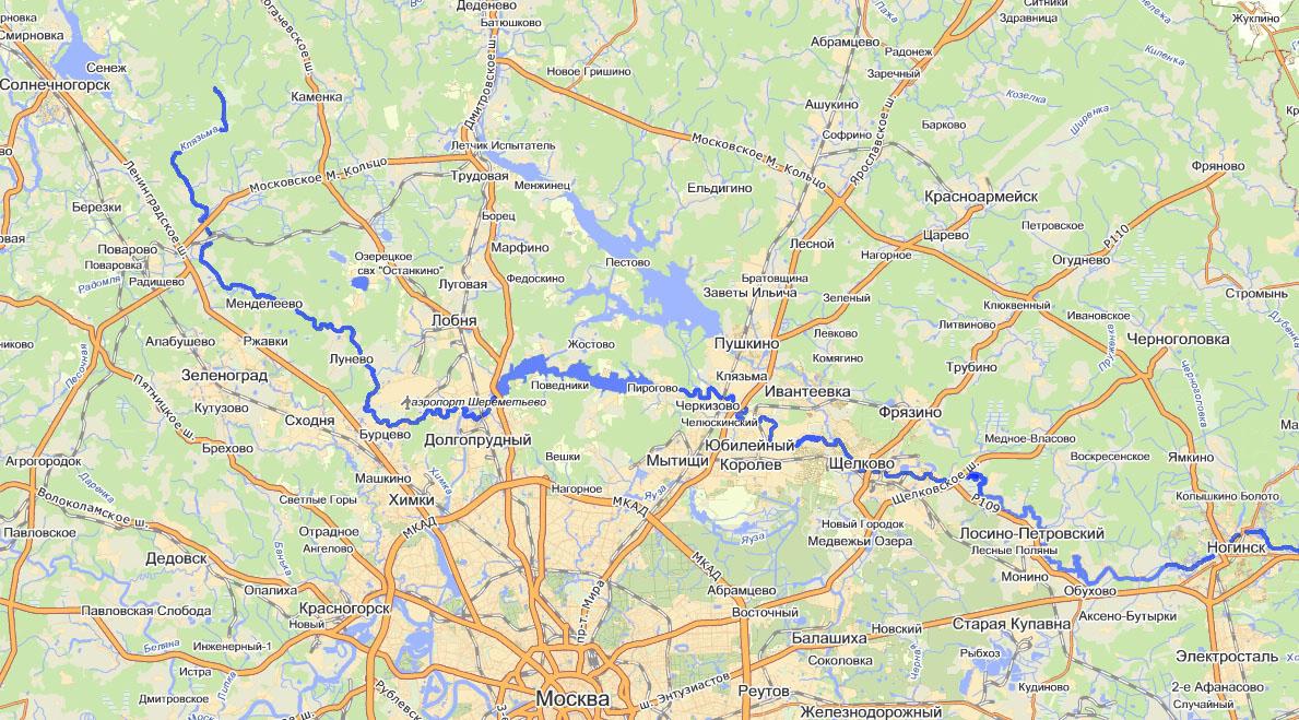 Река Клязьма до Ногигска
