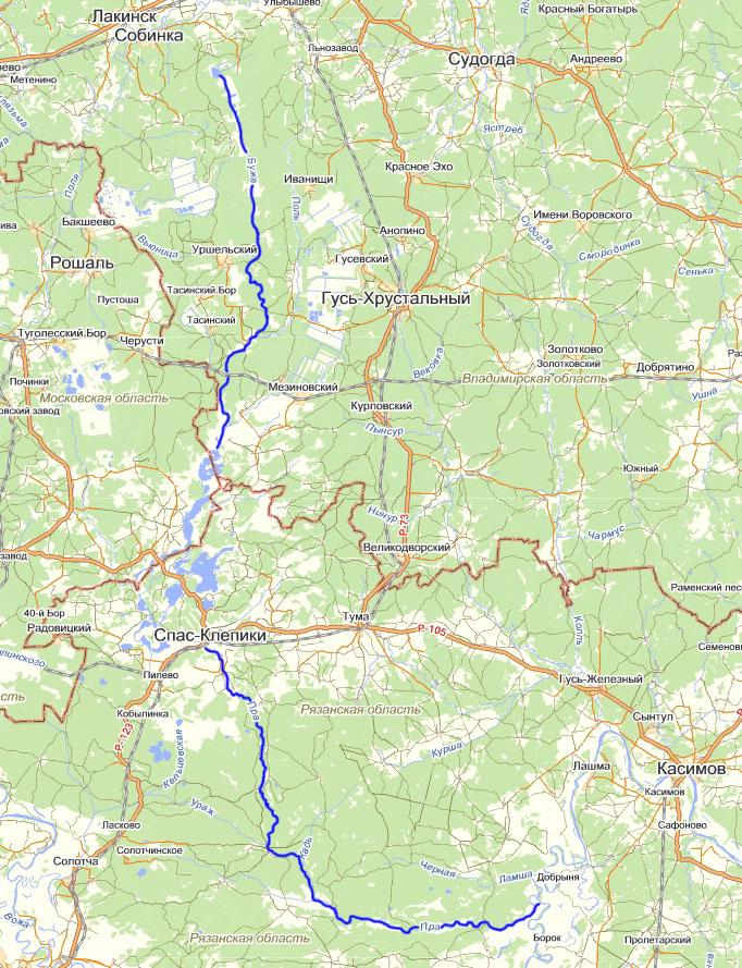 Мещерский край (реки Бужа и Пра)