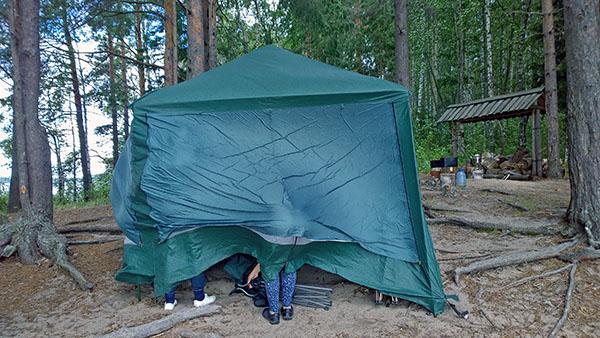 Борьба за ветроустойчивость шатра