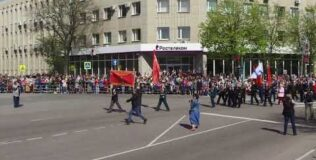 Праздничный парад в Новгороде Великом
